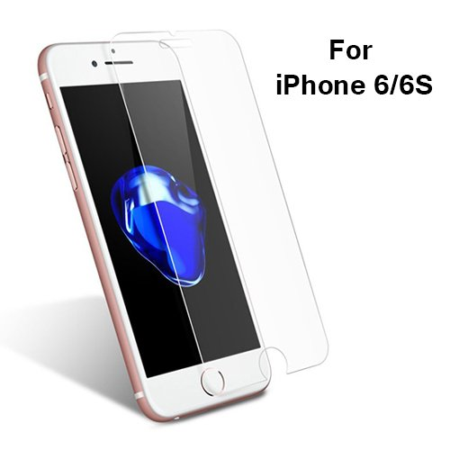 [MOBILIFY] iPhone 6/6S (4.7') Tempered Glass with [Crystal Clear] [9H Hardness] [Anti-Scratch] [3D Touch Compatible] [BUBBLE FREE] Screen Protector