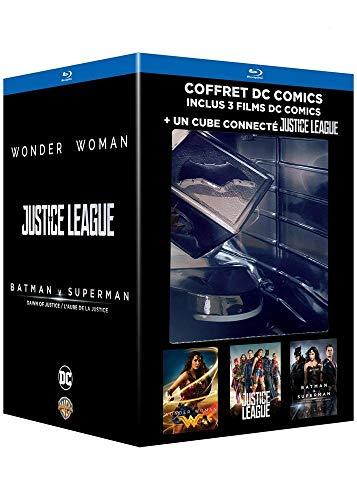 DC Universe - Edition Limitée 3 films - Inclus le cube objet connecté DC Comics Justice League -Coffret Blu-Ray - DC COMICS [Coffret Édition limité + Blu-ray + Cube connecté]