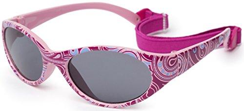 Kiddus Sonnenbrille Kids Comfort Junge und Mädchen. Alter 2 bis 6 Jahre. Total Flexible Modell für Extra Komfort. Mit Band und sehr Resistent. 100% UV-Schutz. Nützliches Geschenk (KI30410)