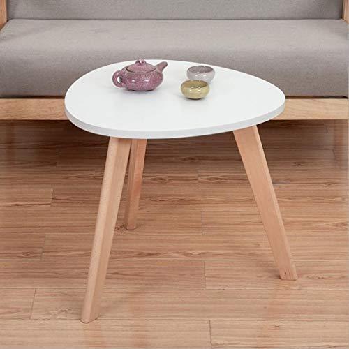M-JH Table d'appoint, Table Basse de Table d'appoint de Table d'extrémité en Bois Massif, Facile à Assembler Le Salon Polyvalent de Dressing (Couleur : Blanc, Taille : 50CM)