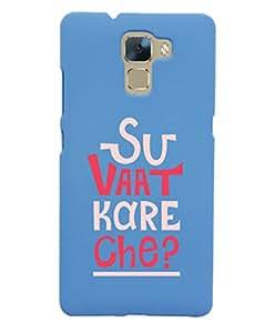 KolorEdge Back Cover For Huawei Honor 7 - Sky Blue (5850-Ke15137Honor7SBlue3D)