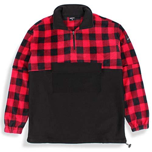 Agora Plaid Reflex Black Pullover Fleece Jacket (Large) Stussy-classic Pullover