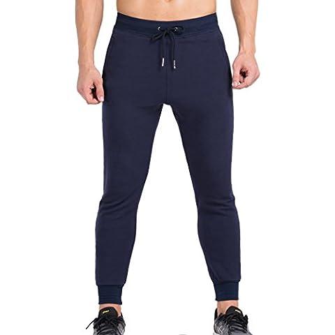 Cody Lundin hombres algodón color puro deporte desgaste Fitness culturismo ciclismo largo de