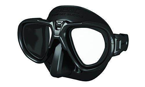 Seac Fox Tauchmaske Mit Maskenbox schwarz, One Size