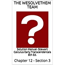 Solution Manual- Stewart Calculus Early Transcendentals 8th Ed.: Chapter 12 - Section 3