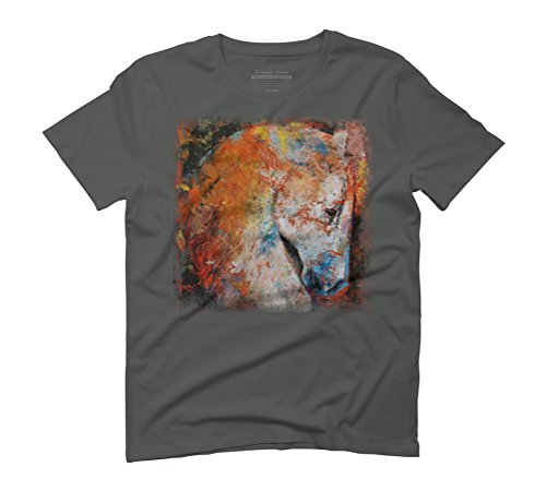 WAR HORSE Men's Graphic T-Shirt - Design By Humans Anthracite