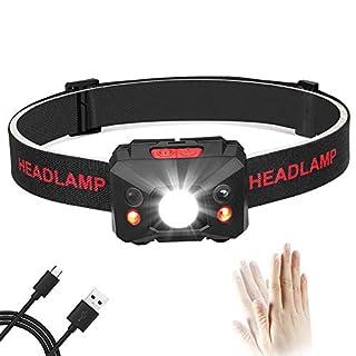 Eletorot Stirnlampe LED, USB Wiederaufladbare Kopflampe Wasserdicht Leichtgewichts stirnlampen Perfekt fürs Joggen, Laufen Campen Angelnund Radfahren, für Kinder und mehr