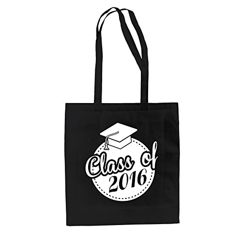 Baumwolltasche - Class of 2016 - Abschluss - von SHIRT DEPARTMENT weiss-schwarz