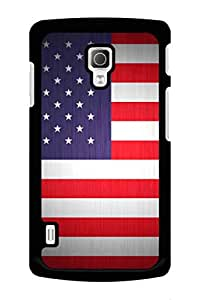 Caseque US Flag Back Shell Case Cover for LG L72