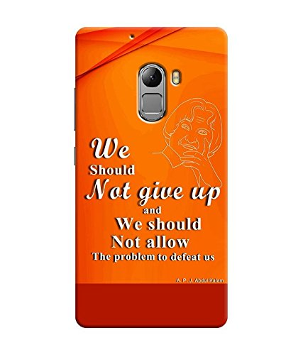 "NH10 DESIGNS 3D PRINTING DESIGNER HARD SHELL POLYCARBONATE ""OPTIMISTIC,AP.J.ABDUL KALAM"" PRINTED SHOCK PROOF WATER RESISTANT SLIM BACK COVER MATT FINISH FOR LENEVO K4 NOTE/LENOVO K4NOTE"