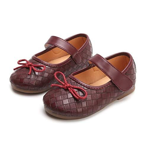 Sunny Mädchen-kleidung (Kinderschuhe Neue kleine Mädchen Sommer britischen Stil Kunstleder Sandalen Prinzessin einzigen Schuhe Kinder Müßiggänger runden Kopf Schuhe)