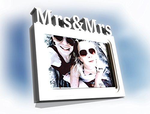 """Lesbische Geschenke """"Mrs & Mrs"""" Fotorahmen ~"""