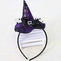 Bruja de Navidad Cabeza Hebilla Accesorios de Halloween Colorido Sombrero de Bruja Diadema Traje de Moda Vestir Accesorios para Fiesta
