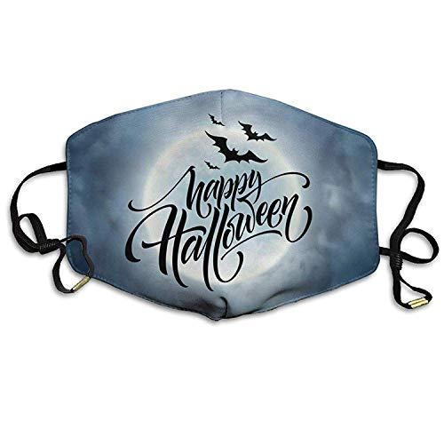 Unisex Halloween Glowing Night Hintergrund mit dem Mond Anti-Staub Breathable Health Masks Mouth Face Mask