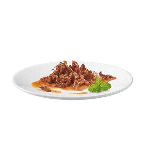 Gourmet Perle Erlesene Streifen mit Huhn, Rind, Lachs und Kaninchen, Hochwertiges Nassfutter für Katzen (60 x 85 g Portionsbeutel) - 5