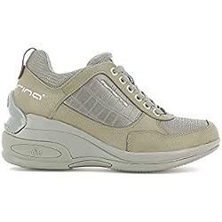 Fornarina PIFDY7615WJD Daily Sneaker, Donna, Grigio (Grey 06), 39 EU