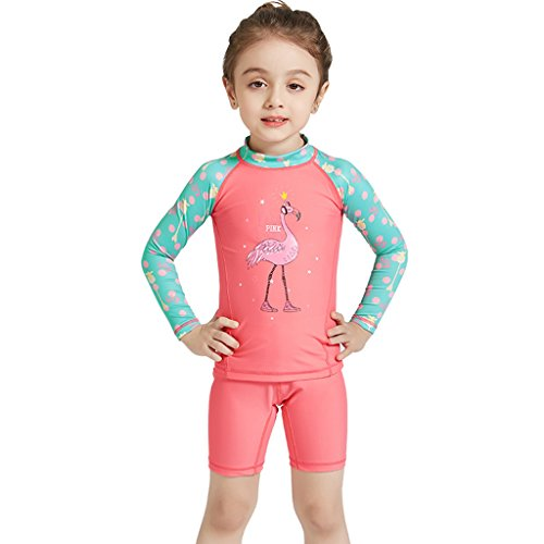 Gogokids Baby Girls Two-Piece Swimsuit Swimwear - Kids Long Sleeves Sunsuits UPF 50+ Wetsuits Swimming Cosutme