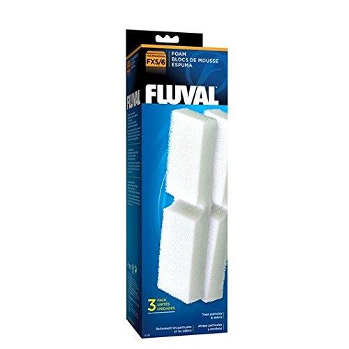 Fluval Pack de 3 Blocs de Mousse Filtrante FX5/FX6 pour Aquariophilie