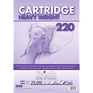 Frisk 220 gm Heavy Weight Cartridge A2 25 Sheets Pad, White