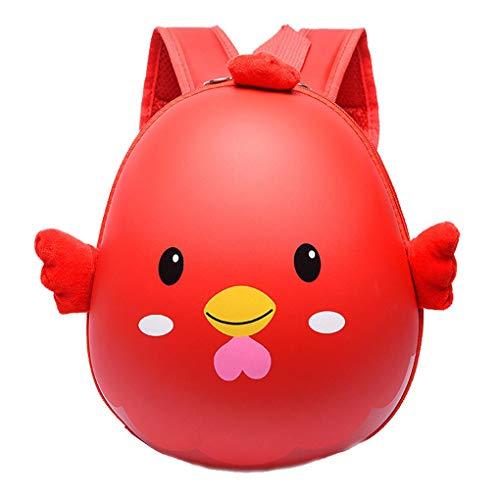 Plzlm Kinder Schultasche Cute Animal Design 3D Rucksack Küken-Ei-Shell-Beutel-Jungen-Mädchen-Kleinkind-Kindergarten Schultertasche