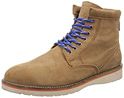 Superdry Mens Stirling Brown Leather Boots - 7 UK/India (41 EU)