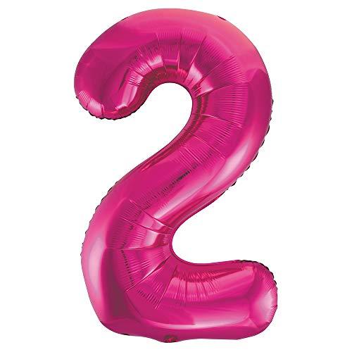 Unique Party Folienballon im Zahlen-Design, groß, 86,4cm