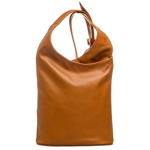 CASPAR Fashion, Borsa a tracolla donna cognac
