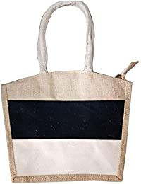 Pooja Bags Jute Carry Bag Set Of 2 PCs (Tricolor, Size: 12*10*5 Inches) - B07D8XR5XQ