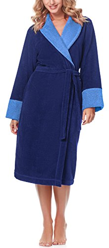 Merry Style Accappatoio per Donna MSLL1003 Blu Scuro(5066)