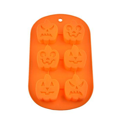 ikon Backform / Muffinform für Muffins, Cupcakes, Kuchen, Pudding, Eiswürfel und Gelee - Halloween Kürbis (Halloween Kürbis)