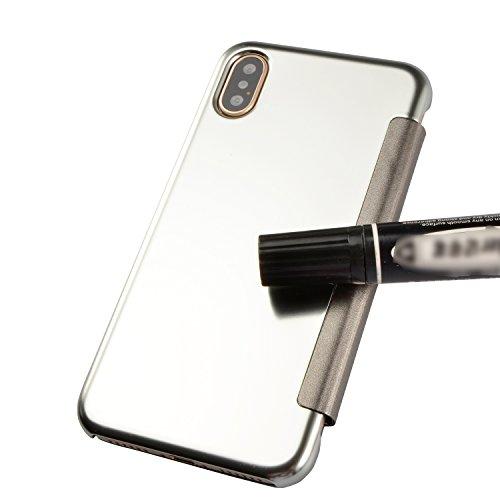Vandot custodia per iPhone X / iPhone 10 5.8 Pollice, metal cover case per iPhone X / iPhone 10 5.8 Pollice, ultra sottile Caso Bumper Metal Frame e Anti-Scratch Hybrid PC back cover sprit cover shell Metallo 2