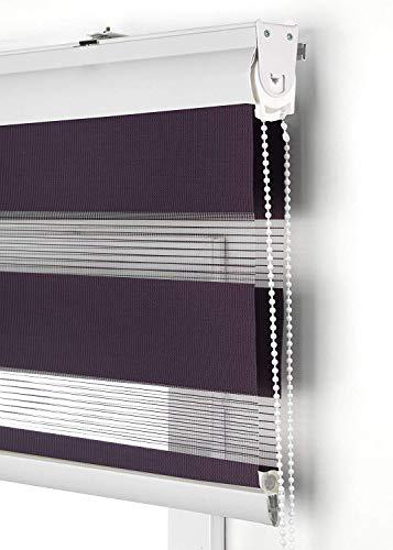 Estor Enrollable Dia y Noche Tracery Violeta (Ancho 170 x 250 Alto)