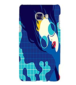 PrintVisa Fashion Swimming Girl Design 3D Hard Polycarbonate Designer Back Case Cover for Samsung C7
