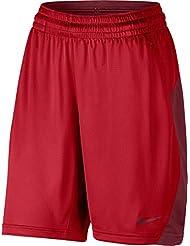 Nike W Nk Short Pantalón Corto, Mujer, Rojo (University Red / Team Red / Team Red), M-T