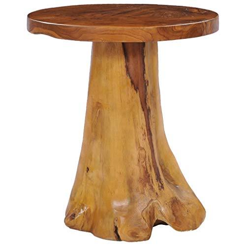 Festnight Couchtisch 40×40 cm Massivholz Teak Beistelltisch WohnzimmerTische