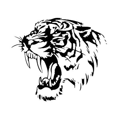 Funnyrunstore Reflektierende Auto Aufkleber Decals TIGER Kopf Haube Von Auto Und Motorrad Seite Auto Aufkleber Auto Styling Zubehör (schwarz) Tiger Aufkleber