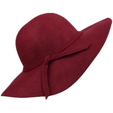 Donna Autunno Inverno caldo di lana Vintage Beret Cap Hat