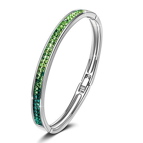 KATE LYNN Lifespring Pulsera Mujer Cristales Verde SWAROVSKI Joya Rega