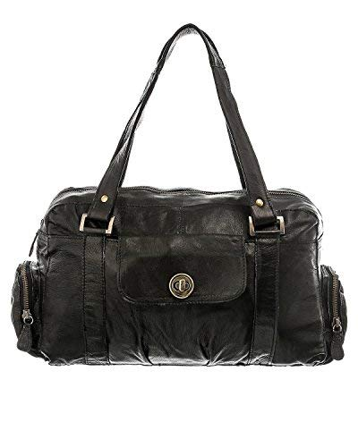 PIECES Pctotally Royal Leather Small Bag Noos - Borse a spalla Donna, Nero (Black), 12x20x32 cm (B x H T)