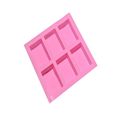 4 Cavity Plain Basic Rectangle Silicone Mould for Homemade Craft Soap Mold Rechteck DIY Seife Form...