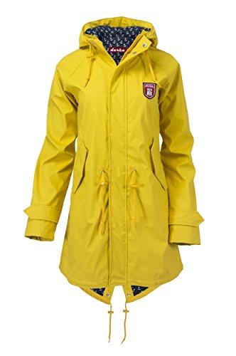 Derbe Damen Regenmantel Travel Anchor Friese gelb blau - 36