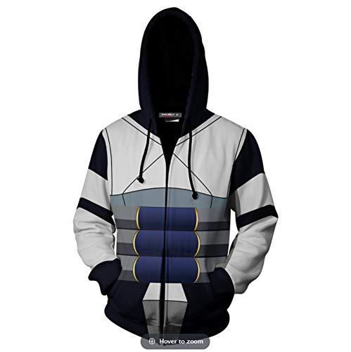 Henxizucun Herren Hoodies My Hero College 3D gedruckte Hoodies Lässiger Hoodie Outdoor Sweatshirt Zipper (College Paare Kostüme)