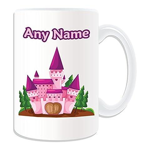Cadeau personnalisé Rose-Grand Mug motif château de conte de fée