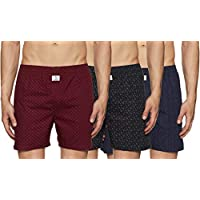 Longies Men's Printed Boxers (Pack of 3) (LGBOXPO3004XL_Multicolor 2_X-Large)