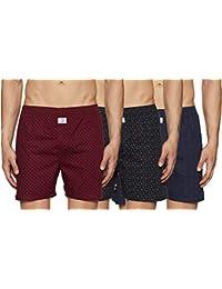 Longies Men's Printed Boxers (Pack of 3)