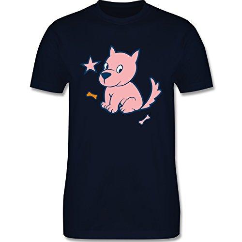 Hunde - Hund - Herren Premium T-Shirt Navy Blau