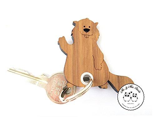 Preisvergleich Produktbild Mr. & Mrs. Panda Schlüsselanhänger Biber mit Ballon - 100% handmade in Norddeutschland - Schenken, Nager, Bambus, Geschenk, Luftballon, Schlüsselanhänger, Biber, Anhänger, Schlüsselbund, Staudamm, Glücksbringer, Sternchen