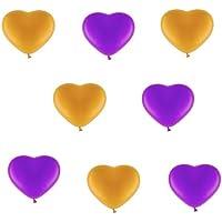 50palloncini cuore Je 25viola e 25Oro Metallizzato–ca. Ø 30cm–50pezzi–Colori Oro E Rosa/Rosa–heliumgeeignet–palloncini cuore–Top qualità–twist4®