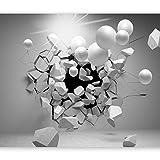 murando Papier peint intissé 350x256 cm Décoration Murale XXL Poster Tableaux Muraux Tapisserie Photo Trompe l'oeil Abstraction Sphere 3D a-C-0002-a-d