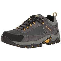 Columbia Men's GRANITE RIDGE™ WATERPROOF Hiking Shoe, Dark Grey, Golden Yellow, 11.5 D US